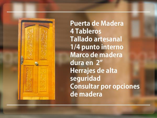 Aberturas cadema for Puerta de madera exterior usada